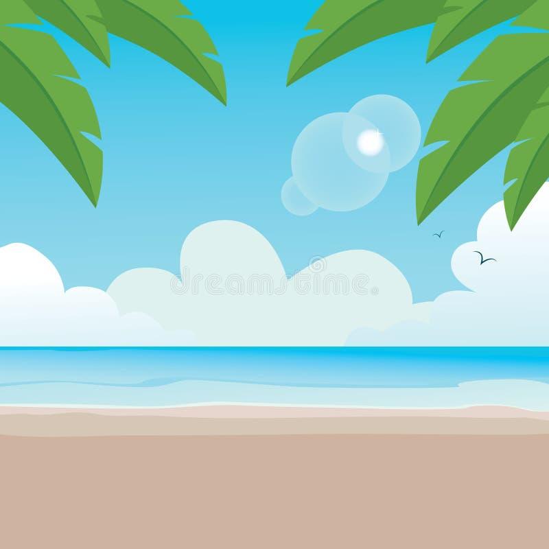 Paradisaic Strand-Hintergrund lizenzfreie abbildung