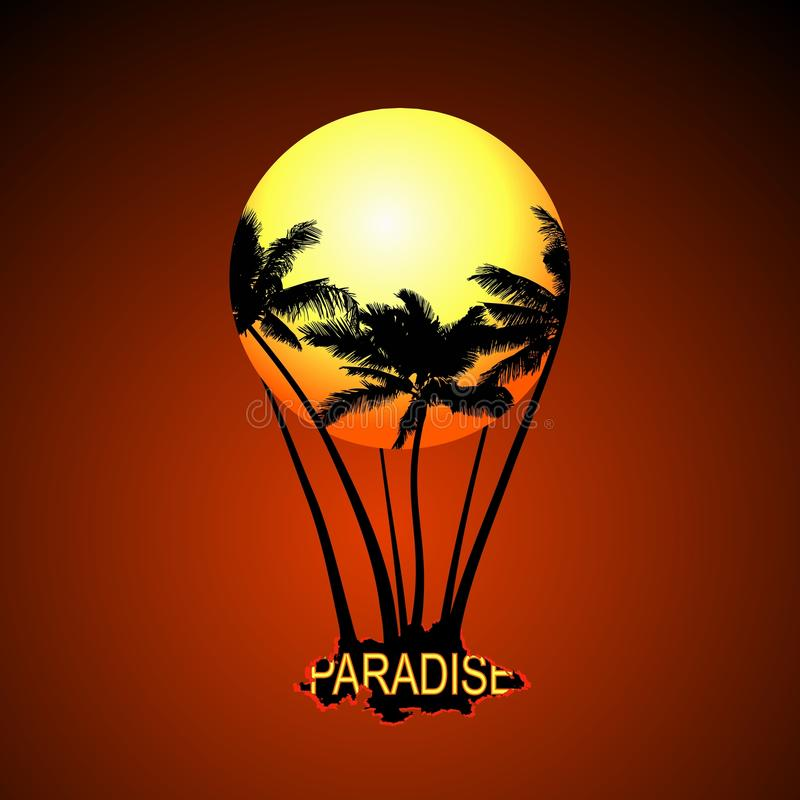 Paradisballong vektor arkivfoton