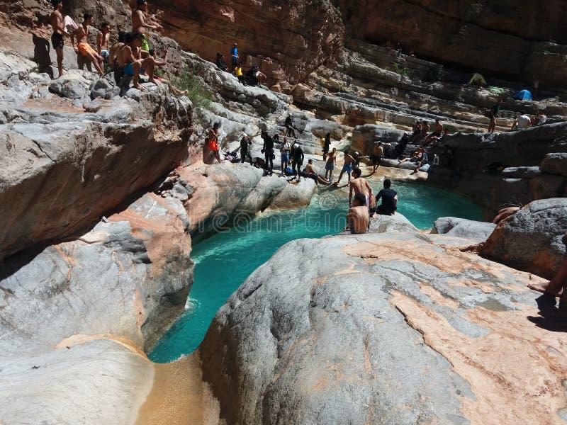 Paradisdal en agadir Marocko 4 arkivfoto