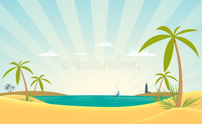Download Paradise Bay stock vector. Image of foam, lighthouse - 20926714