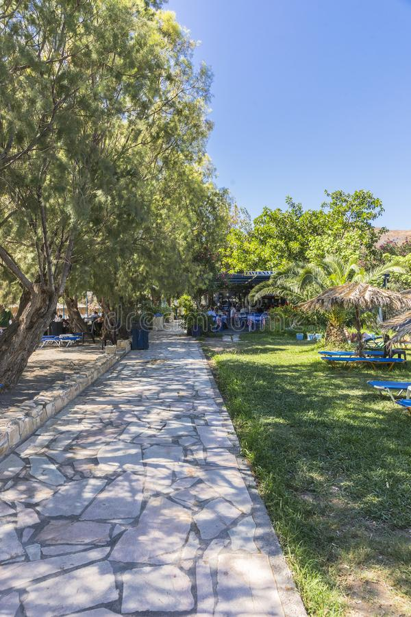 Street in Agia stock images