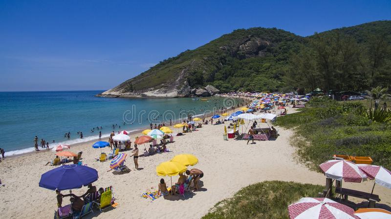 Paradise beach, beautiful beach, wonderful beaches around the world, Grumari beach, Rio de Janeiro, Brazil, South America Brazil royalty free stock photos