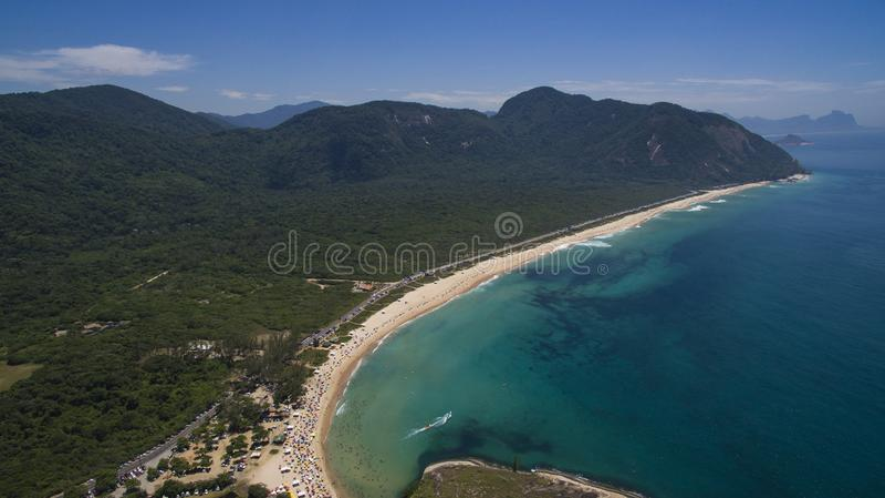 Paradise beach, beautiful beach, wonderful beaches around the world, Grumari beach, Rio de Janeiro, Brazil, South America Brazil royalty free stock photos