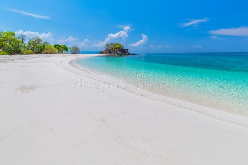 Paradise beach and the blue sky at Khai Island in Satun Province , Thailand.  stock image