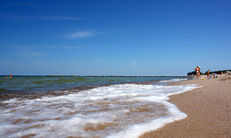 Paradise beach, intensive colors stock photography