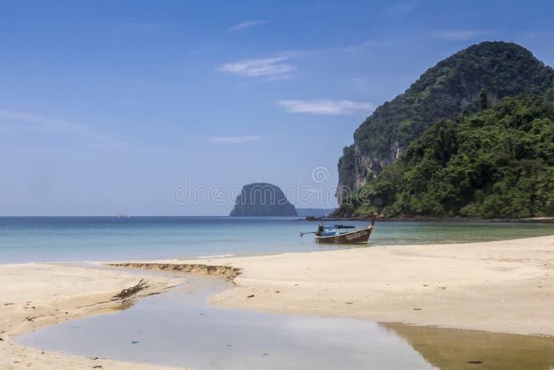 Paradise beach at Koh Mook Island, Thailand royalty free stock photography