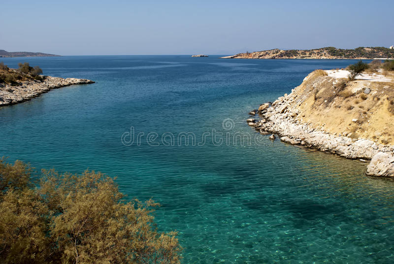 Paradise beach near the Athens. stock images