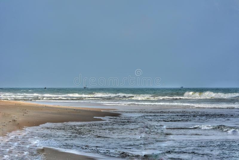 Paradise Beach. In Pondicherry royalty free stock images