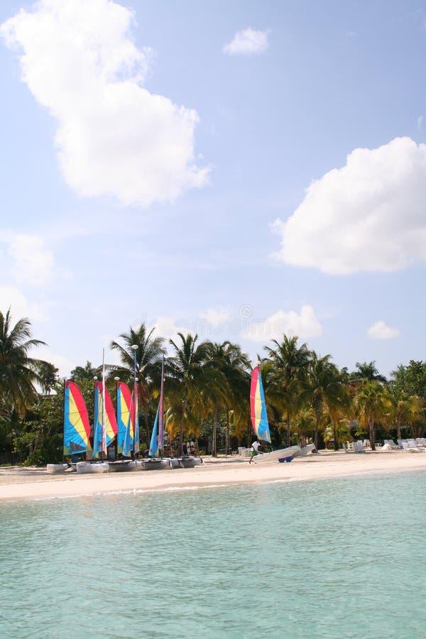 Paradise Beach Sailing III stock photos
