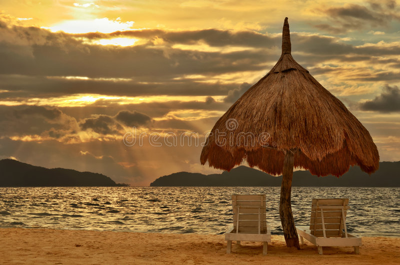 Download Paradise Beach Sunset stock photo. Image of nobody, relax - 7971626