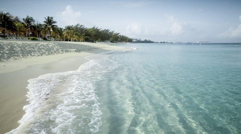 Paradise beach on a tropical island stock photography
