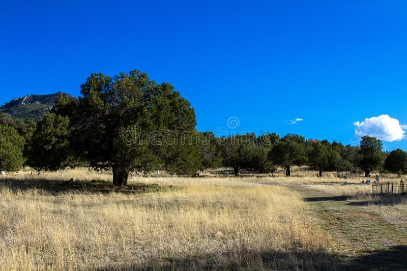 Paradise Cemetery in the Chiricahua Mountains royalty free stock photo