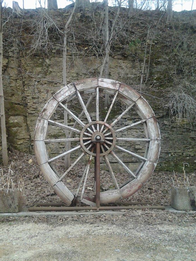 Paradise Cove Old Paddle Wheel stock photo