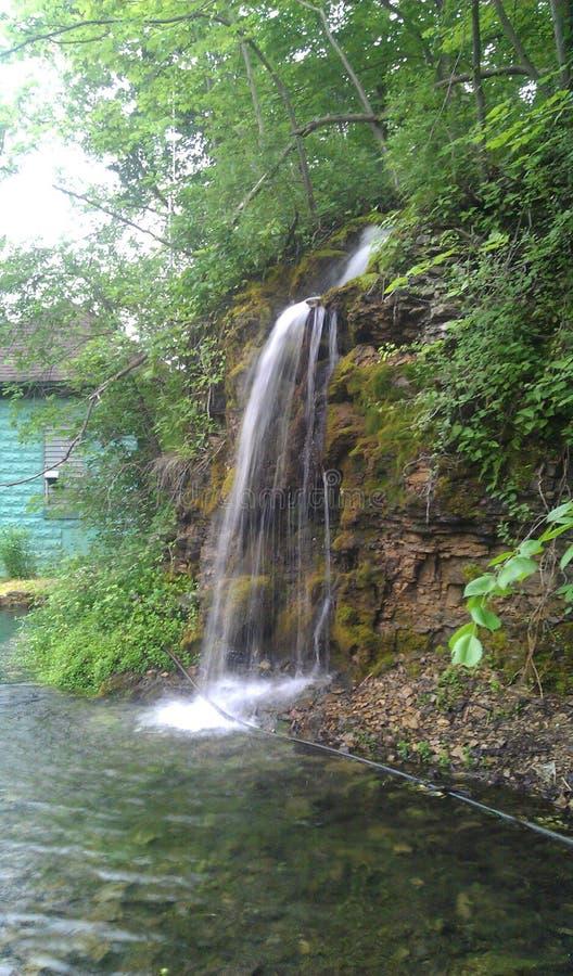 Paradise Cove Waterfall stock photo