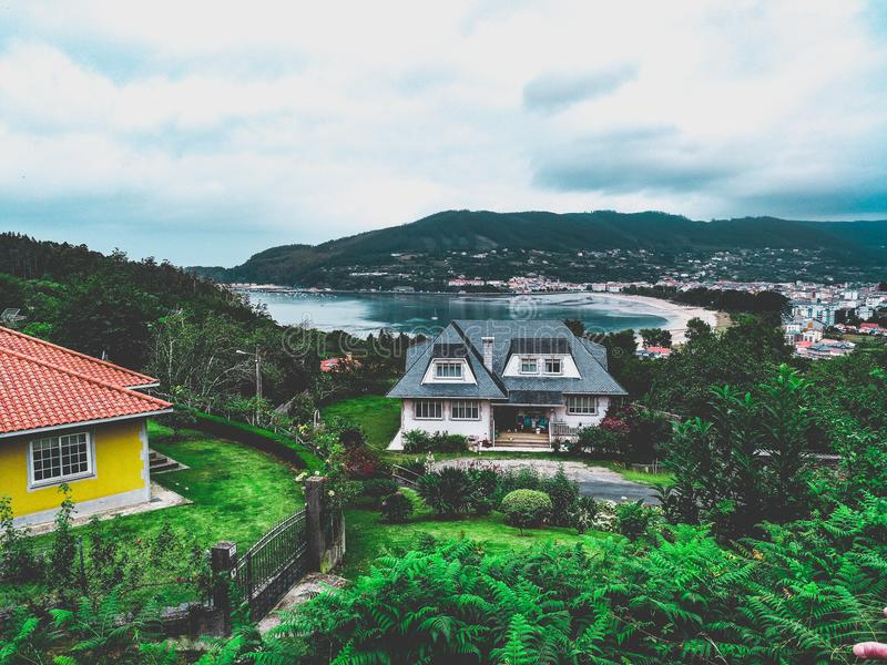 The paradise is in Galicia stock photography