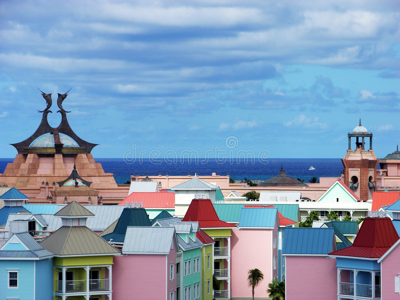 Paradise Island Roofs royalty free stock images