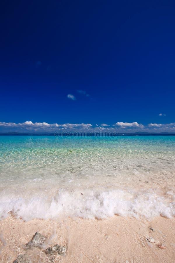 Paradise Island White Sand Beach stock image