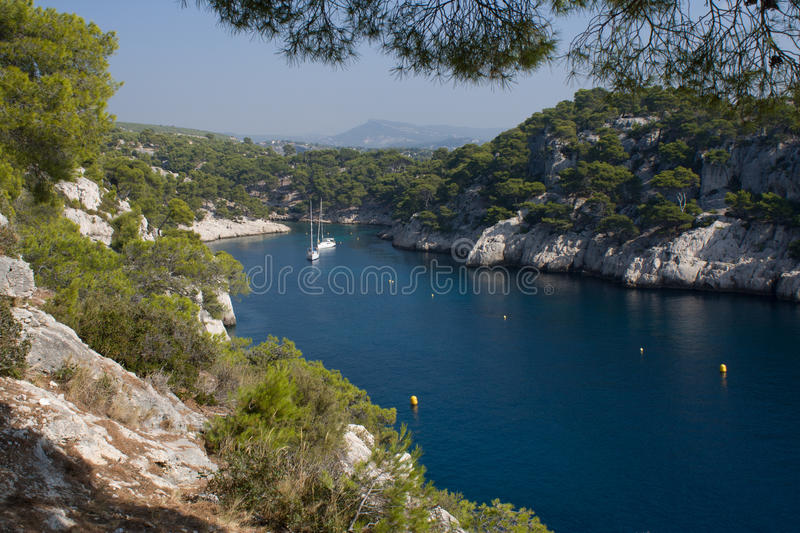 Download Paradise lagoon stock photo. Image of gulf, pine, calanque - 21653180
