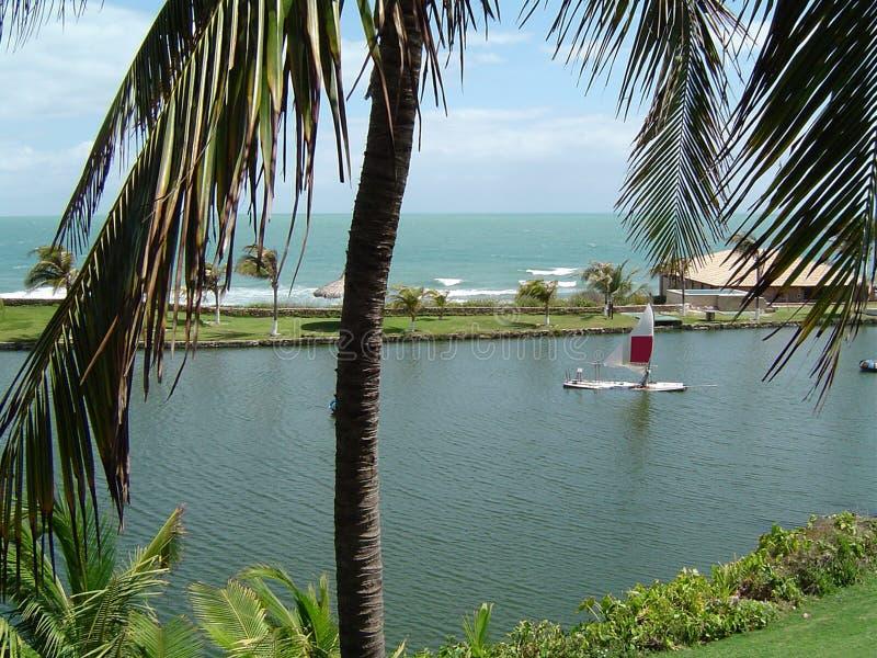 Paradise lagoon stock photos