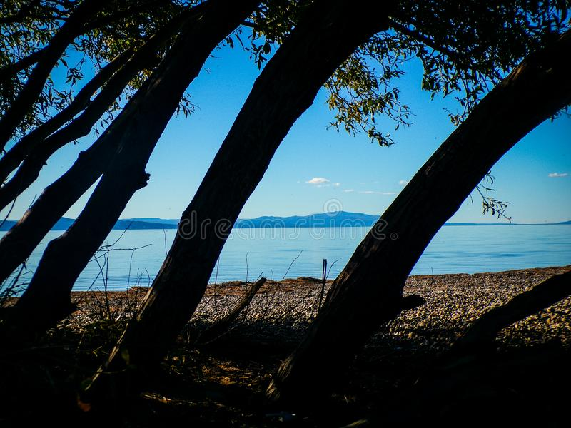 Paradise on the lake Musters Chubut royalty free stock photography