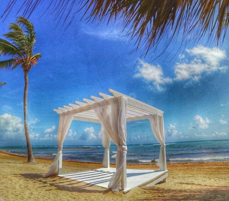 Paradise na praia na República Dominicana imagens de stock royalty free