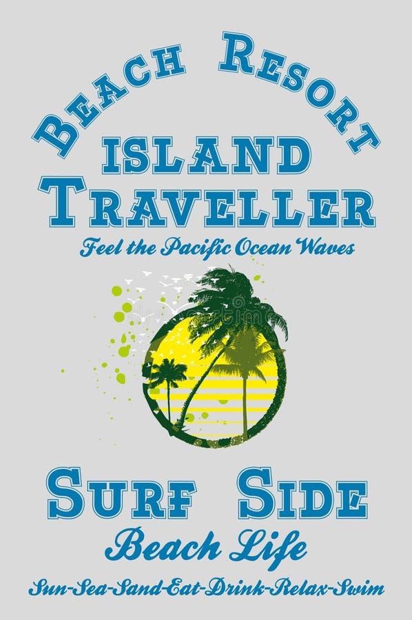 Paradise Palm Island Stock Images