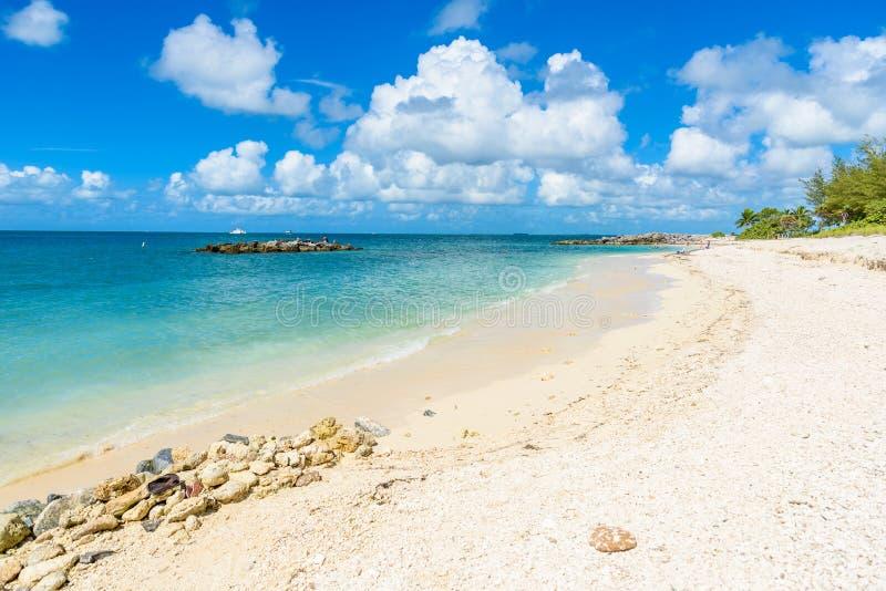 Paradise strand p? fortet Zachary Taylor Park, Key West delstatspark i Florida, USA fotografering för bildbyråer
