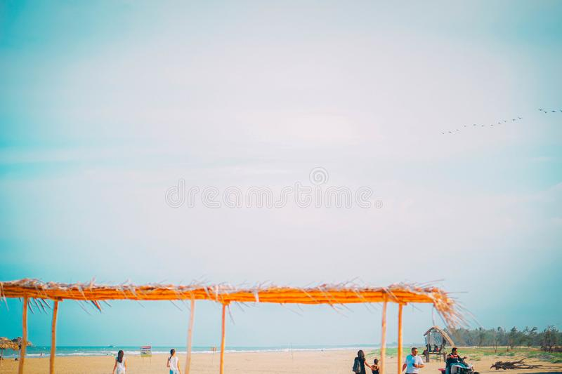 Paradise-Strand, Pondicherry stockfotografie