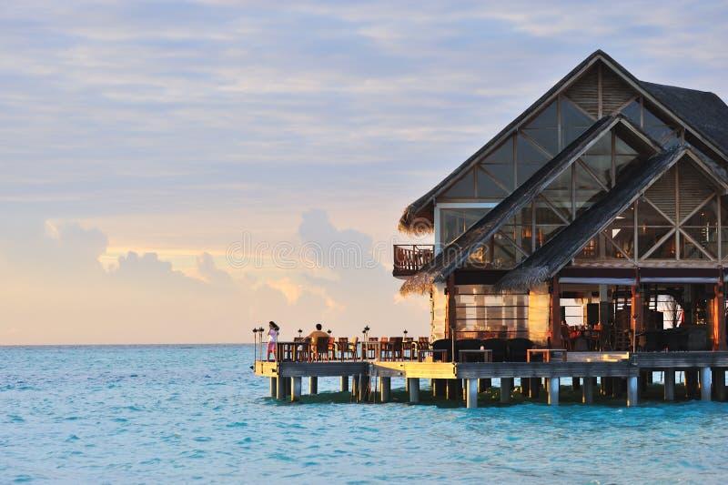 Download Paradise Sunset stock image. Image of holiday, blue, restuarant - 12599103