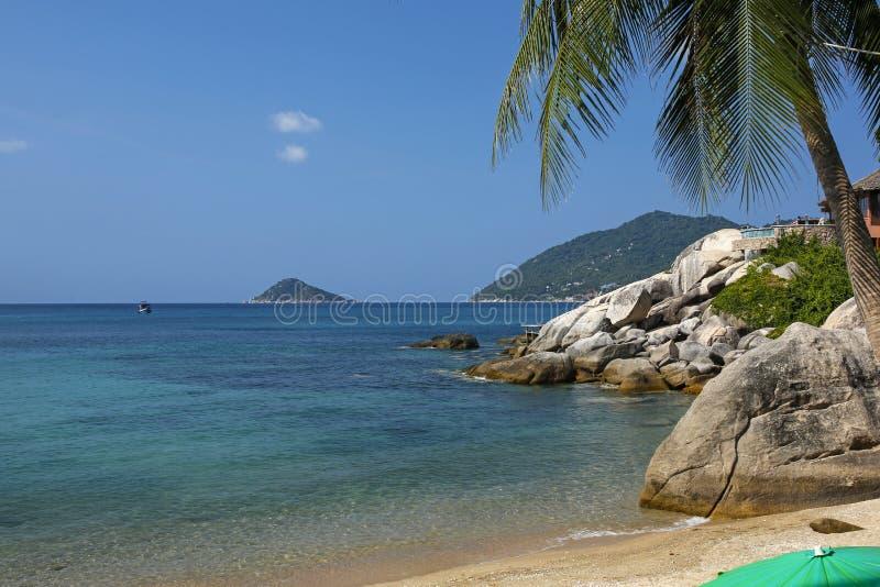 Tropical beach on  Koh Tao, Thailand royalty free stock photos