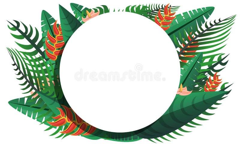 Paradise tropical rainforest concept banner, cartoon style royalty free illustration