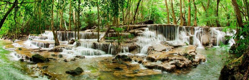 Paradise Waterfall (Huay Mae Kamin Waterfall). In Kanchanaburi, Thailand royalty free stock photos