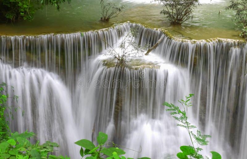 Paradise Waterfall (Huay Mae Kamin Waterfall) in Kanchanaburi. In Thailand royalty free stock image