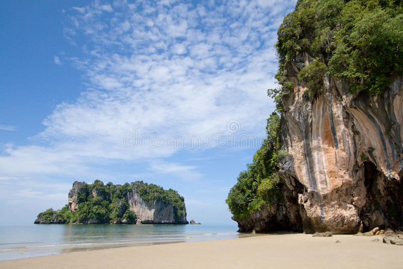 Paradisiac beach at Had Yao, Trang, Thailand. Wide angle stock images