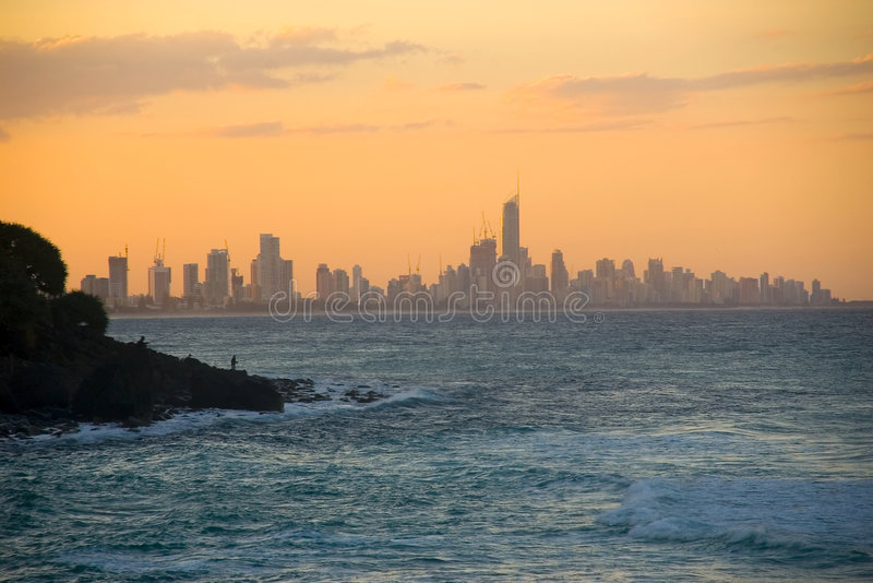 Paradiso dei surfisti al crepuscolo immagini stock libere da diritti