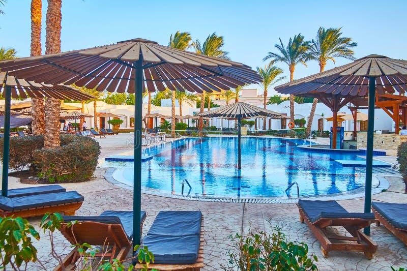 Paradiso del ` dei villeggianti, Sharm el-Sheikh, Sinai, Egitto immagine stock libera da diritti