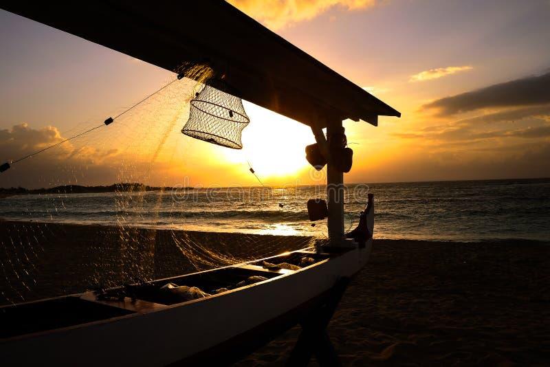 Paradiso di alba a Ayodya, DUA di Nusa, Bali, Indonesia fotografia stock libera da diritti