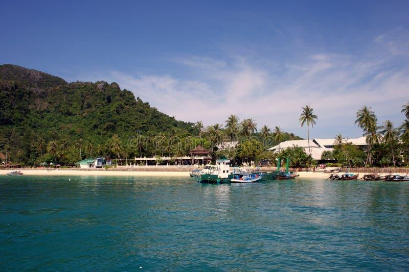 Paradiso tropicale, Phi-Phi Don Island, mare delle Andamane, Tailandia immagini stock libere da diritti