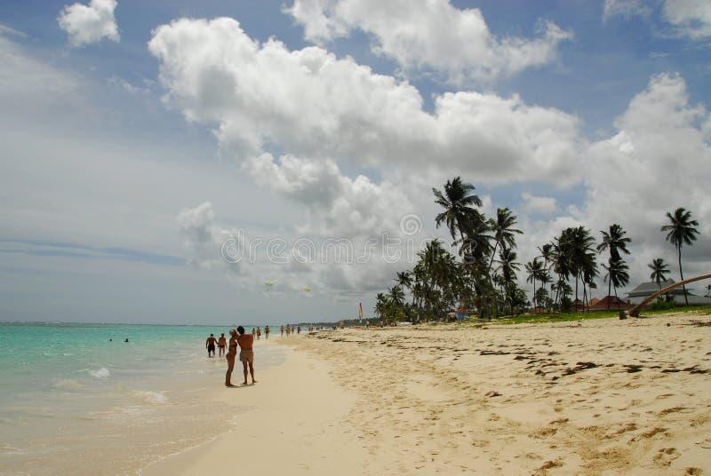 paradiziaca na plaży obraz stock