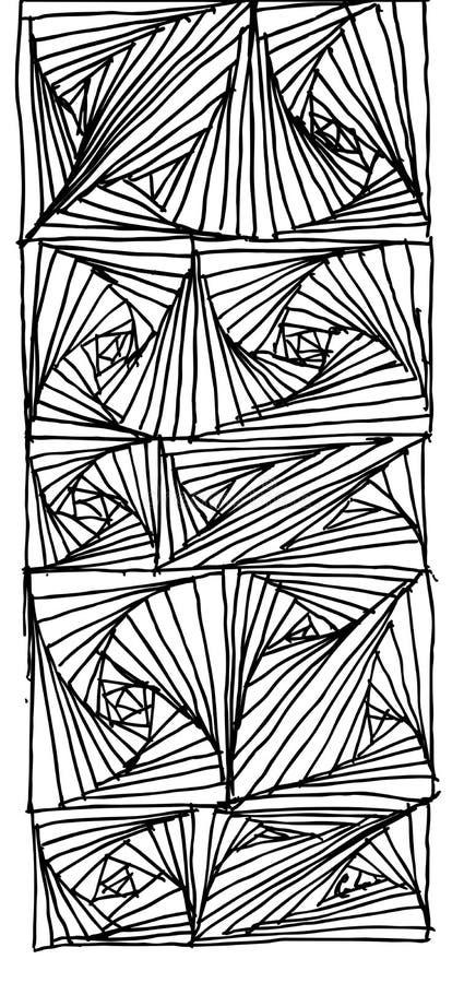 Paradoja del drenaje de la mano ilustración del vector