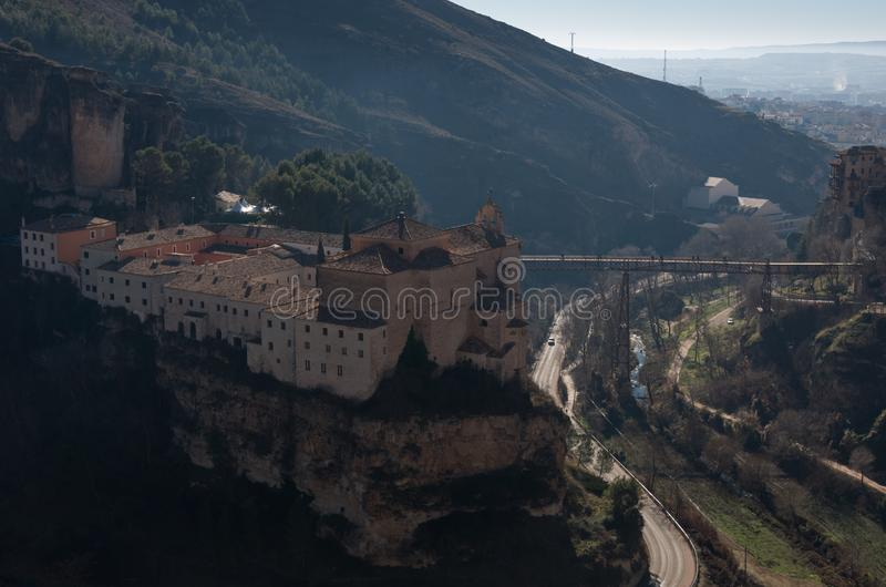Parador de Cuenca. Saint Paul monastery in the outskirts of Cuenca, in Spain stock image