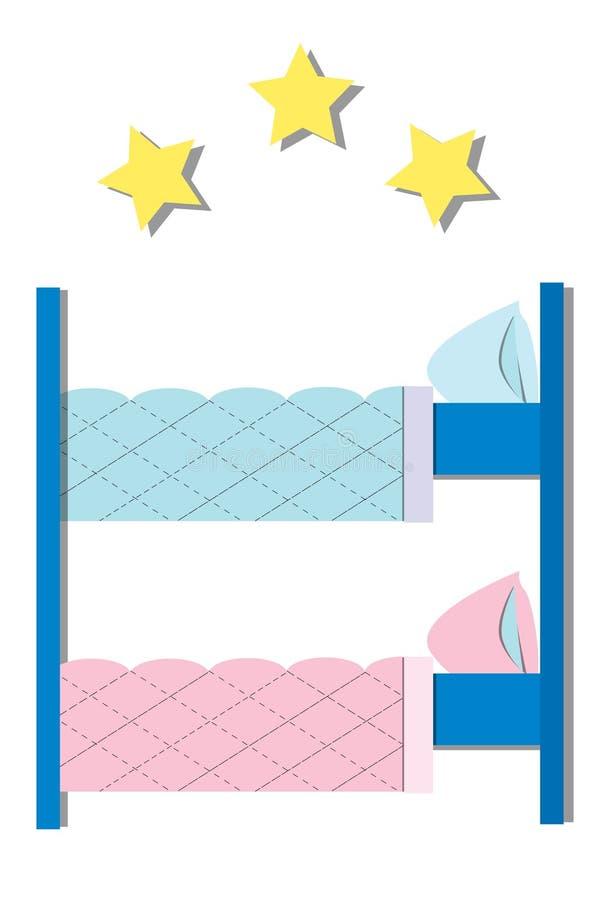 Parador del hotel Ejemplo plano del vector stock de ilustración