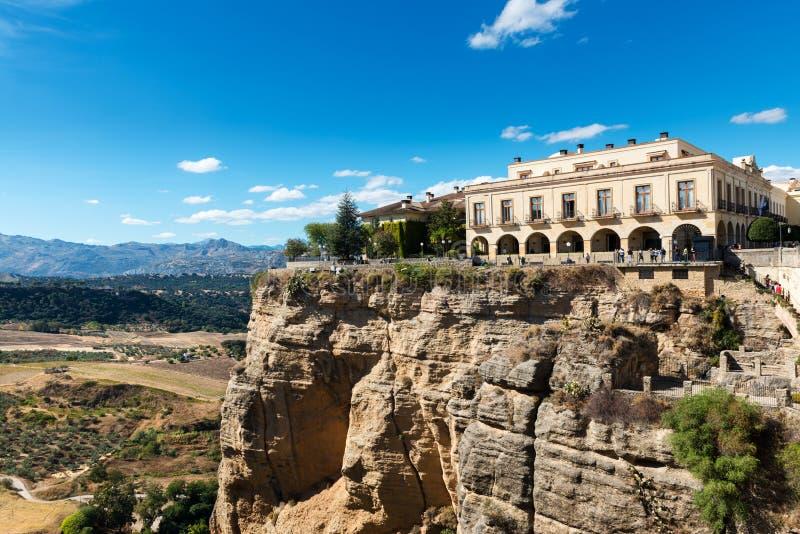 Parador in Ronda, Spanje royalty-vrije stock foto