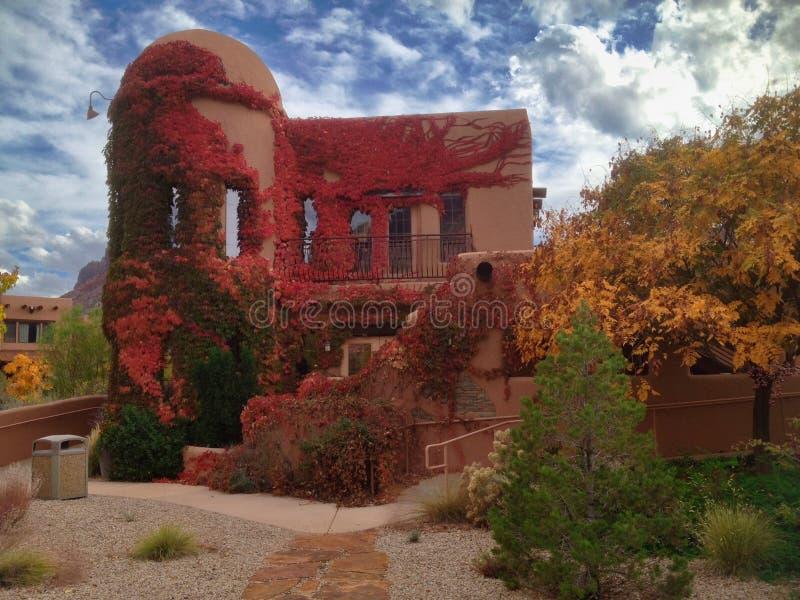 Paradox Grille bei Gateway Canyons Fall Color lizenzfreie stockbilder