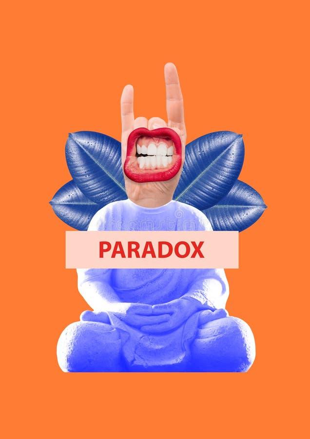 paradox Moderne Auslegung Collage der zeitgenössischen Kunst vektor abbildung