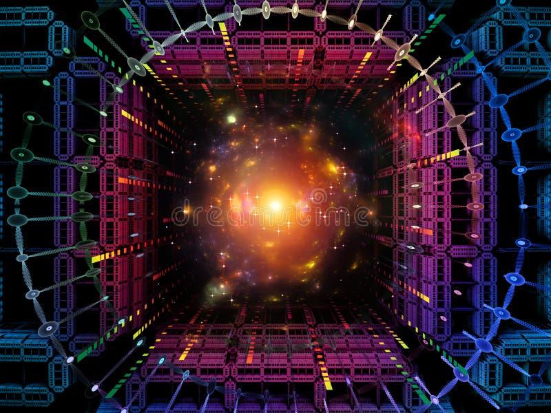 Paradygmat kwant przestrzeń royalty ilustracja