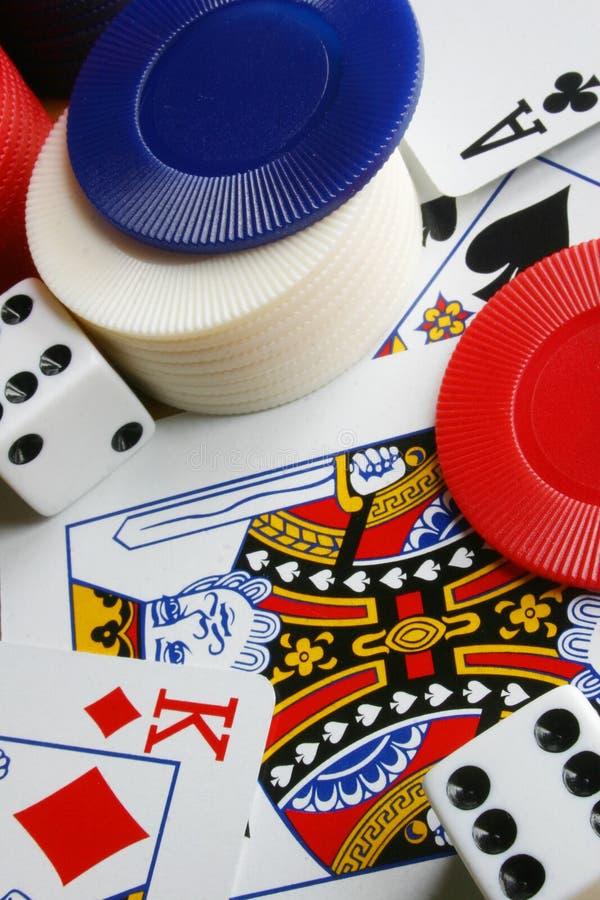 Parafernália do póquer imagens de stock royalty free