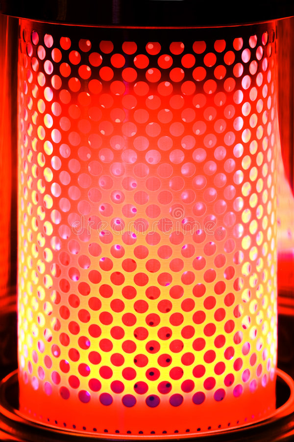 Paraffin Heater with Red Orange Glow royalty free stock image