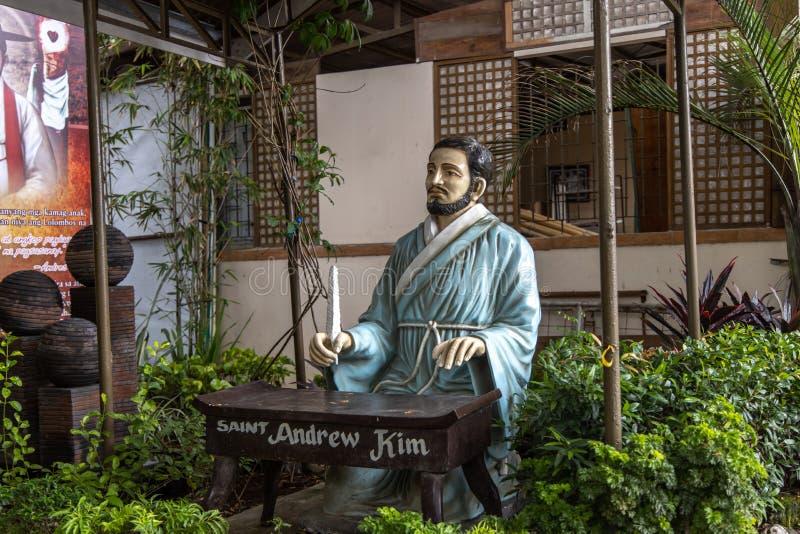 Parafia Sto Cristo i St Andrew Kim Gon Nowy kościół, Bulacan, Filipiny, Jun 29, 2019 obrazy stock