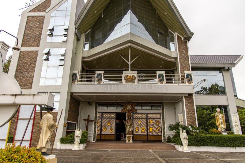 Parafia Sto Cristo i St Andrew Kim Gon Nowy kościół, Bulacan, Filipiny, Jun 29, 2019 zdjęcie stock